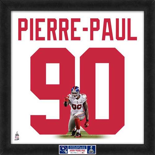 "Jason Pierre-Paul UNIFRAME 20"" X 20"""