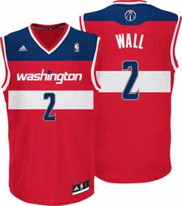 John Wall Adidas Washington Wizards Red Replica YOUTH Jersey - Large