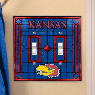 Kansas Art Glass Lightswitch Cover (Double)