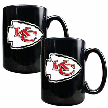 Kansas City Chiefs 2 Piece Coffee Mug Set