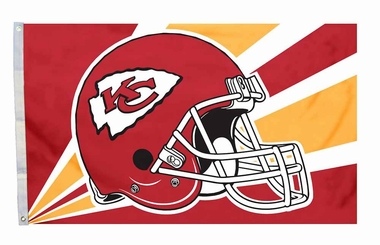 Kansas City Chiefs 3'x5' Helmet Design Flag