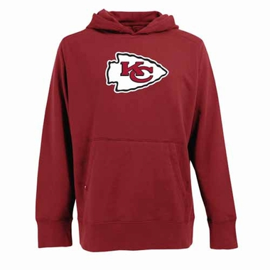 Kansas City Chiefs Mens Big Logo Signature Hooded Sweatshirt (Color: Red)