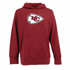 Kansas City Chiefs Big Logo Mens Signature Hooded Sweatshirt (Color: Red) - Small
