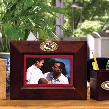 Kansas City Chiefs BROWN Landscape Picture Frame