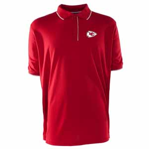 Kansas City Chiefs Mens Elite Polo Shirt (Color: Red) - XXX-Large