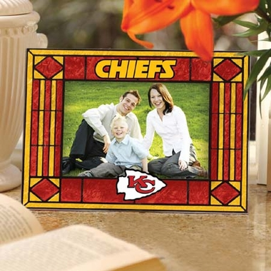 Kansas City Chiefs Landscape Art Glass Picture Frame