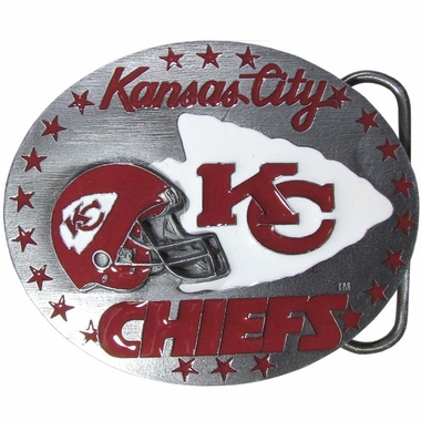 Kansas City Chiefs Enameled Belt Buckle