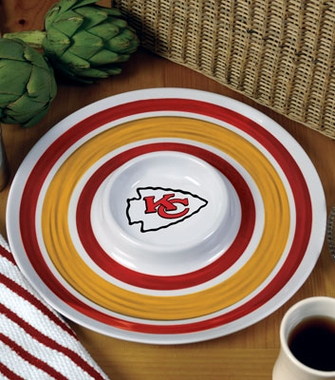 Kansas City Chiefs Plastic Chip and Dip Plate