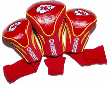 Kansas City Chiefs Set of Three Contour Headcovers