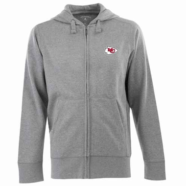 Kansas City Chiefs Mens Signature Full Zip Hooded Sweatshirt (Color: Silver)