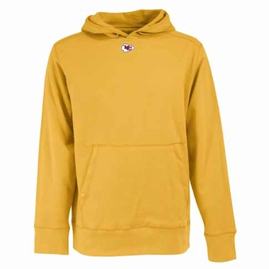 Kansas City Chiefs Mens Signature Hooded Sweatshirt (Color: Gold)