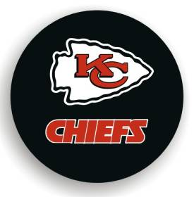 Kansas City Chiefs Black Tire Cover - Standard Size