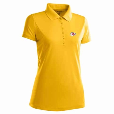 Kansas City Chiefs Womens Pique Xtra Lite Polo Shirt (Color: Gold)