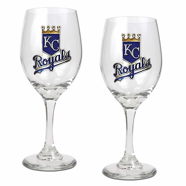 Kansas City Royals 2 Piece Wine Glass Set