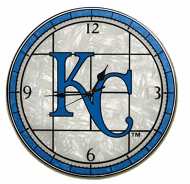 Kansas City Royals Art Glass Clock