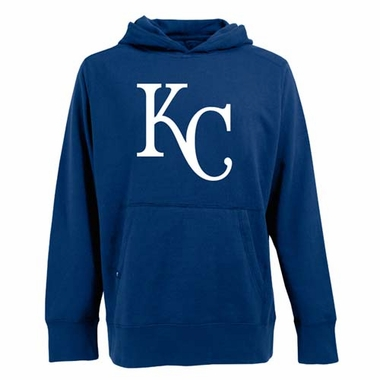 Kansas City Royals Mens Big Logo Signature Hooded Sweatshirt (Color: Blue)