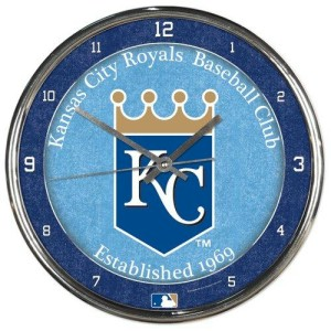 Kansas City Royals Round Chrome Wall Clock