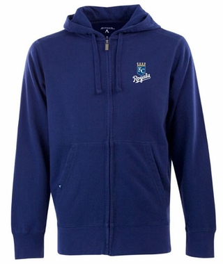 Kansas City Royals Mens Signature Full Zip Hooded Sweatshirt (Color: Royal)