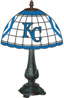Kansas City Royals Stained Glass Table Lamp