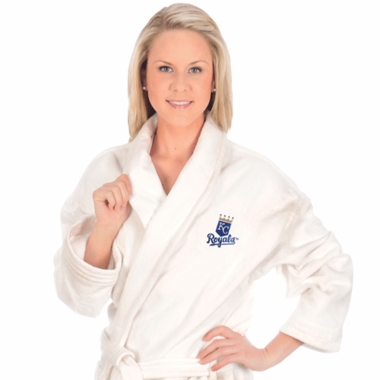 Kansas City Royals UNISEX Bath Robe (White)