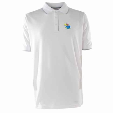 Kansas Mens Elite Polo Shirt (Color: White)