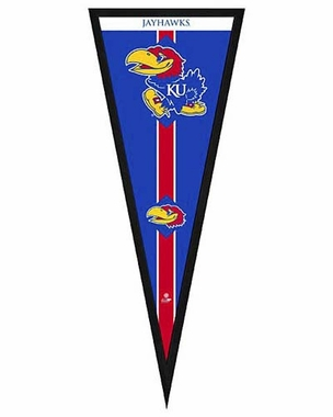 "Kansas Jayhawks Pennant Frame - 13""x33"" (No Glass)"