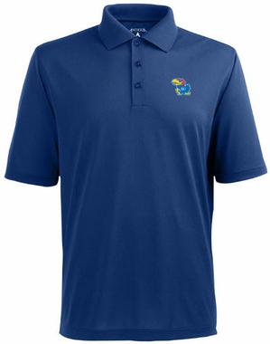 Kansas Mens Pique Xtra Lite Polo Shirt (Color: Blue)