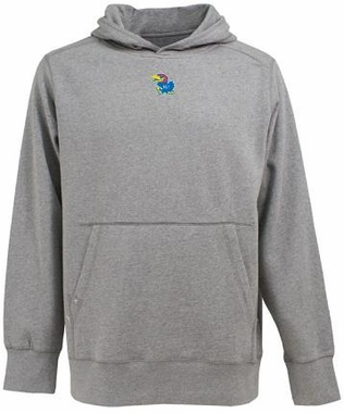Kansas Mens Signature Hooded Sweatshirt (Color: Silver)
