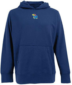 Kansas Mens Signature Hooded Sweatshirt (Color: Royal) - Medium
