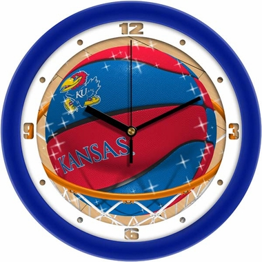 Kansas Slam Dunk Wall Clock