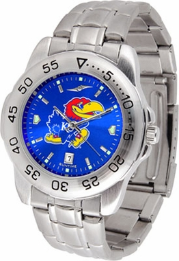 Kansas Sport Anonized Men's Steel Band Watch