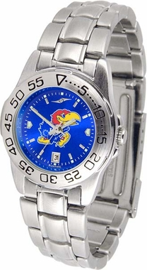 Kansas Sport Anonized Women's Steel Band Watch