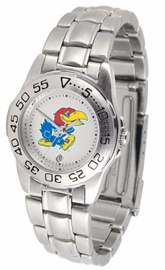 Kansas Sport Women's Steel Band Watch