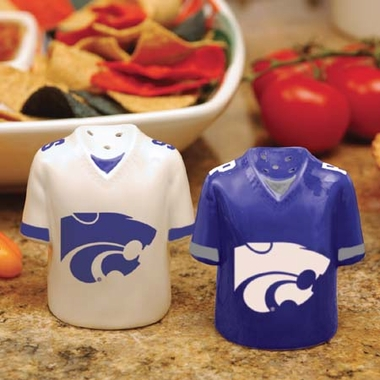 Kansas State Ceramic Jersey Salt and Pepper Shakers