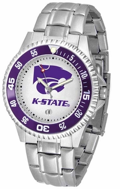 Kansas State Competitor Men's Steel Band Watch