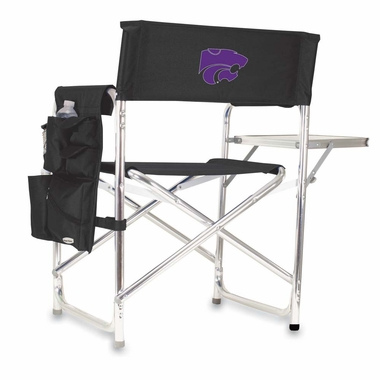 Kansas State Embroidered Sports Chair (Black)