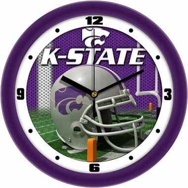 Kansas State Helmet Wall Clock