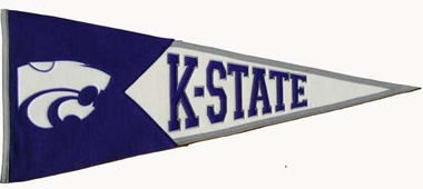 Kansas State Large Wool Pennant
