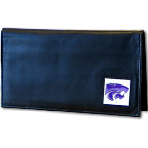 Kansas State Leather Checkbook Cover (F)