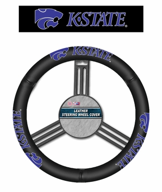 Kansas State Wildcats Steering Wheel Cover - Leather
