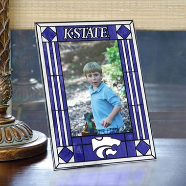 Kansas State Portrait Art Glass Picture Frame