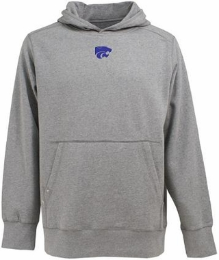 Kansas State Mens Signature Hooded Sweatshirt (Color: Silver)