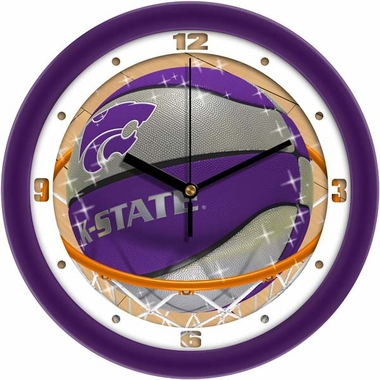 Kansas State Slam Dunk Wall Clock