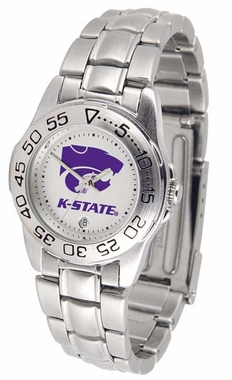 Kansas State Sport Women's Steel Band Watch