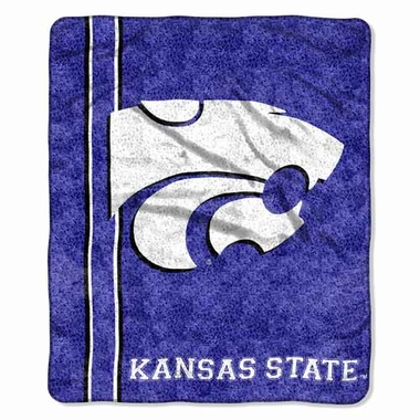 Kansas State Super-Soft Sherpa Blanket