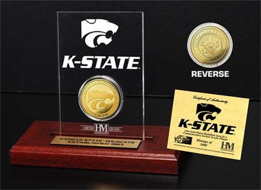 Kansas State Wildcats Kansas State Wildcats 24KT Gold Coin Etched Acrylic