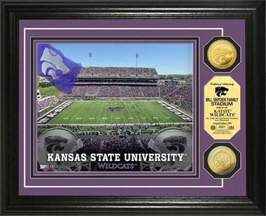 Kansas State Wildcats Bill Snyder Family Stadium 24KT Gold Coin Photomint