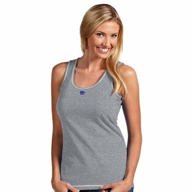 Kansas State Womens Sport Fashion Tank Top (Color: Silver)
