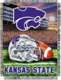 Kansas State Woven Tapestry Throw Blanket