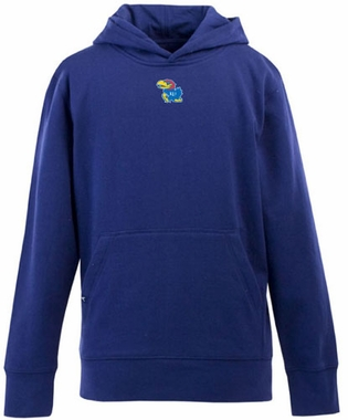 Kansas YOUTH Boys Signature Hooded Sweatshirt (Color: Royal)
